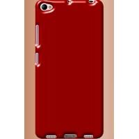Силиконовый глянцевый непрозрачный чехол для Lenovo S90  Красный