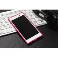 Металлический округлый бампер на пряжке для Sony Xperia XA Пурпурный