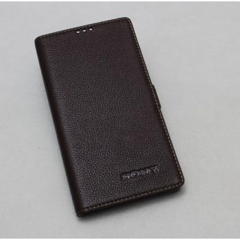 Кожаный чехол горизонтальная книжка подставка на пластиковой основе на магнитной защелке для Sony Xperia XA