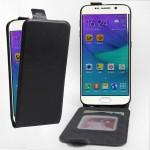 Чехол вертикальная книжка на силиконовой основе с отсеком для карт на магнитной защелке для Samsung Galaxy S6 Edge