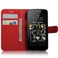 Чехол портмоне подставка на силиконовой основе на магнитной защелке для LG K5  Красный
