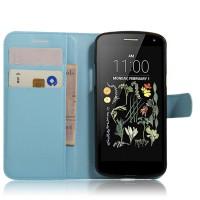Чехол портмоне подставка на силиконовой основе на магнитной защелке для LG K5  Голубой