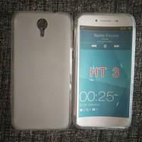 Силиконовый матовый полупрозрачный чехол для Homtom HT3 Белый