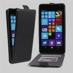 Чехол вертикальная книжка на клеевой основе с отсеком для карт на магнитной защелке для Microsoft Lumia 535