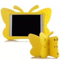 Ударостойкий детский силиконовый матовый гиппоаллергенный непрозрачный чехол с встроенной ножкой-подставкой для Ipad Mini 2/3/4 Желтый