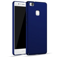Пластиковый непрозрачный матовый чехол с улучшенной защитой элементов корпуса для Huawei P9 Lite  Синий