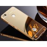 Двухкомпонентный чехол c металлическим бампером с поликарбонатной накладкой и зеркальным покрытием для Huawei P9 Lite