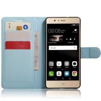 Чехол портмоне подставка на силиконовой основе на магнитной защелке для Huawei P9 Lite  Голубой