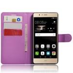 Чехол портмоне подставка на силиконовой основе на магнитной защелке для Huawei P9 Lite