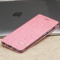 Чехол горизонтальная книжка подставка текстура Соты на силиконовой основе для Huawei P9 Lite  Розовый