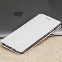 Чехол горизонтальная книжка подставка текстура Соты на силиконовой основе для Huawei P9 Lite  Белый