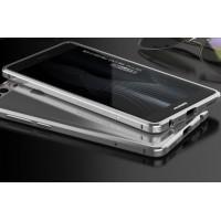 Металлический округлый бампер сборного типа на винтах для Huawei P9 Lite Белый