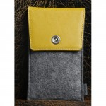 Войлочный мешок с кожаной отделкой и отсеком для карт для Huawei P9 Plus