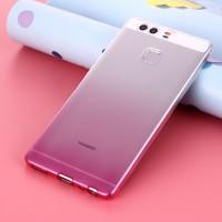 Силиконовый матовый полупрозрачный градиентный чехол для Huawei P9 Plus