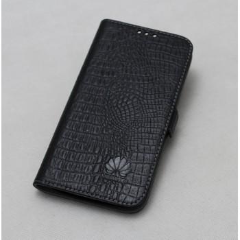 Кожаный чехол горизонтальная книжка подставка с отделкой Крокодил на силиконовой основе на магнитной защелке для Huawei P9 Plus