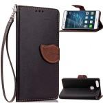 Чехол портмоне подставка на силиконовой основе на дизайнерской магнитной защелке для Huawei P9 Plus