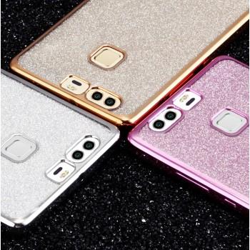 Силиконовый матовый непрозрачный чехол с текстурным покрытием Узоры для Huawei P9 Plus