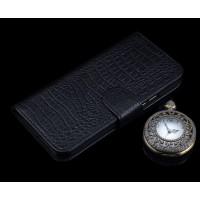 Кожаный чехол портмоне (премиум нат. кожа крокодила) с крепежной застежкой для Huawei P9 Plus