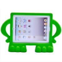 Ударостойкий детский силиконовый матовый гиппоаллергенный непрозрачный чехол для Ipad 2/3/4  Зеленый