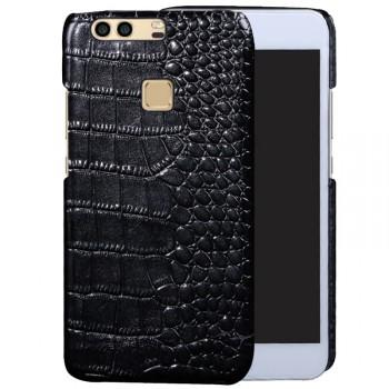 Кожаный чехол накладка (премиум нат. кожа крокодила) для Huawei P9 Plus