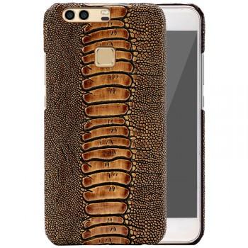 Кожаный чехол накладка (премиум нат. кожа рептилии) для Huawei P9 Plus
