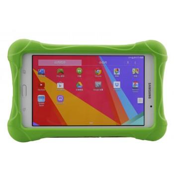 Ударостойкий детский силиконовый матовый гиппоаллергенный непрозрачный чехол для Samsung GALAXY Tab 4 7.0