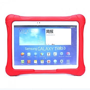 Ударостойкий детский силиконовый матовый гиппоаллергенный непрозрачный чехол для Samsung Galaxy Tab 4 10.1