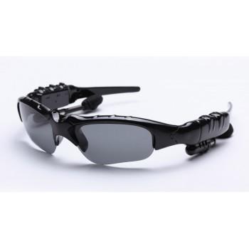 Спортивные солнцеветрозащитные нескользящие очки с набором сменных линз (прозрачные, желтые, коричневые, серые) и bluetooth 4.1 стереогарнитурой с кнопками управления