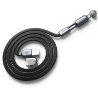 Комбинированный кабель плоского сечения USB-Micro USB/Lightning 1m для одновременной зарядки