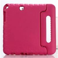 Ударостойкий детский силиконовый матовый гиппоаллергенный непрозрачный чехол с встроенной ножкой-подставкой для Samsung Galaxy Tab A 8  Розовый