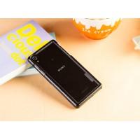 Двухкомпонентный силиконовый матовый непрозрачный чехол с поликарбонатным бампером для Sony Xperia Z2  Черный