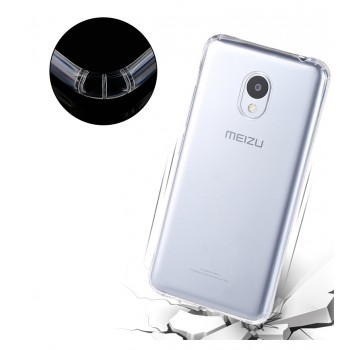 Силиконовый матовый транспарентный чехол для Meizu M3s Mini