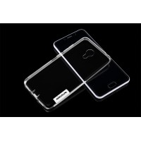 Силиконовый матовый полупрозрачный чехол с улучшенной защитой элементов корпуса (заглушки) для Meizu M3s Mini Белый