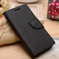 Текстурный чехол портмоне подставка на силиконовой основе на магнитной защелке для Sony Xperia M4 Aqua  Черный