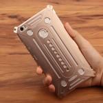 Цельнометаллический противоударный чехол из авиационного алюминия на винтах с мягкой внутренней защитной прослойкой для гаджета с прямым доступом к разъемам для Xiaomi Mi Max