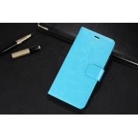 Глянцевый чехол портмоне подставка на пластиковой основе на магнитной защелке для Xiaomi Mi Max  Голубой