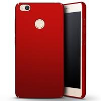 Пластиковый непрозрачный матовый чехол с улучшенной защитой элементов корпуса для Xiaomi Mi Max Красный