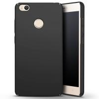 Пластиковый непрозрачный матовый чехол с улучшенной защитой элементов корпуса для Xiaomi Mi Max Черный