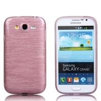 Силиконовый матовый непрозрачный чехол текстура Металлик для Samsung Galaxy Grand