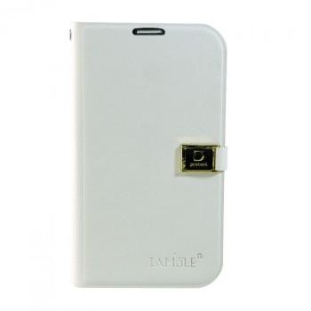 Чехол горизонтальная книжка подставка на пластиковой основе с отсеком для карт на дизайнерской магнитной защелке для Samsung Galaxy Grand