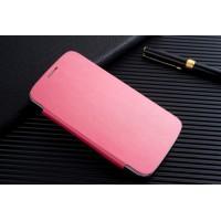 Чехол горизонтальная книжка на пластиковой встраиваемой основе для Samsung Galaxy Grand  Розовый