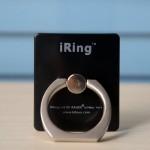 Матовое металлическое антиграбежное клеевое кольцо-подставка для одноручного управления гаджетом