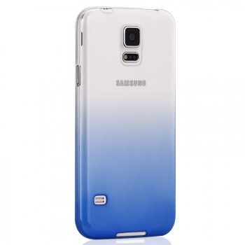 Силиконовый матовый полупрозрачный градиентный чехол для Samsung Galaxy S5 (Duos)
