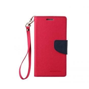 Чехол портмоне подставка на силиконовой основе на дизайнерской магнитной защелке для Samsung Galaxy S5 (Duos)