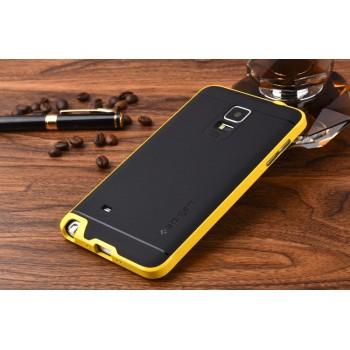 Двухкомпонентный силиконовый матовый непрозрачный чехол с поликарбонатным бампером для Samsung Galaxy Note 4