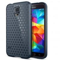 Силиконовый матовый непрозрачный противоударный премиум чехол для Samsung Galaxy S5 (Duos)