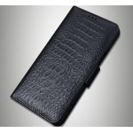 Кожаный чехол портмоне (премиум нат. кожа крокодила) с крепежной застежкой для LeEco Le Max 2