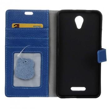 Чехол портмоне подставка на силиконовой основе на магнитной защелке для Alcatel Pop 4 Plus