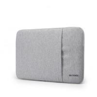 Фланелевый мешок с мягким бархатным покрытием с отсеком для карт на молнии для Huawei MateBook