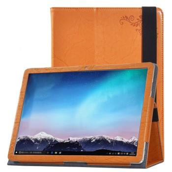 Чехол книжка подставка текстура Узоры с рамочной защитой экрана и поддержкой кисти для Huawei MateBook